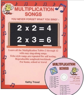 Multiplication Songs CD Kit (CD and Book)