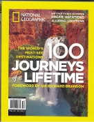 100 Journeys of a Lifetime (National Geographic) new paperback