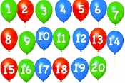 Counting Backwards 20-1 (Pop the Balloons) Movie mp4