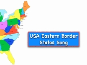 Eastern Border States of the USA m4v Sing-along Video and Test