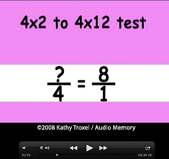 Times Tables Practice 4s to 6s with Fractions mp4