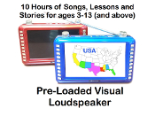 """Power Teacher"" Pre-loaded Visual Loudspeaker mp4 Player"