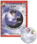 Geography Songs CD Kit (CD, Book, World Map