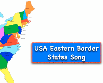 Eastern Border USA States Video + Test (iPad, tablets, Mac,PC)
