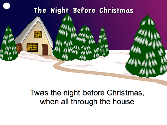 The Night Before Christmas Read-Along mp4 Movie