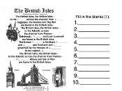 British Isles Song Pages from Geography Songs Book + Tests