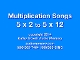 Multiplication Songs 5x2 to 5x12 mp4 Practice Video