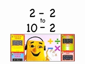 "2-2 to 10-2 Sing-along mp4 Video from ""Subtraction Songs"""