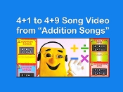 "4+1 to 4+9 mp4 Song Video from ""Addition Songs"" by Kathy Troxel"