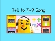 "7+1 to 7+9 m4v Song Video from ""Addition Songs"" by Kathy Troxel"