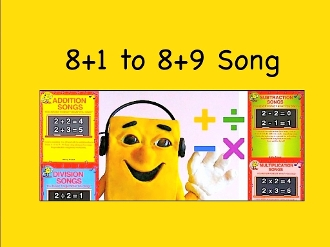 "8+1 to 8+9 mp4 Song Video from ""Addition Songs"" by Kathy Troxel"