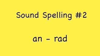 Sound Spelling Video #2 (an - rad) mp4 Reading with Phonics