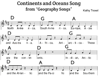 Continents and Oceans Song Sheet Music pdf-chords, notes, lyrics