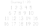 Counting 1 - 20 Printing Practice Worksheet pdf