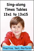 Sing Along Times Tables 13x1 to 13x15 mp4 Video