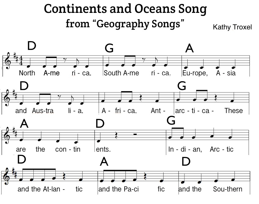 Continents And Oceans Song Sheet Music Pdf Chords Notes Lyrics